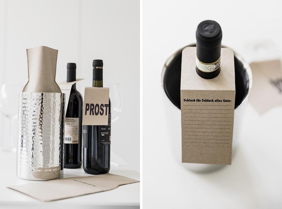 Geschenkidee zu jedem anlass: weinflasche kreativ verpackt
