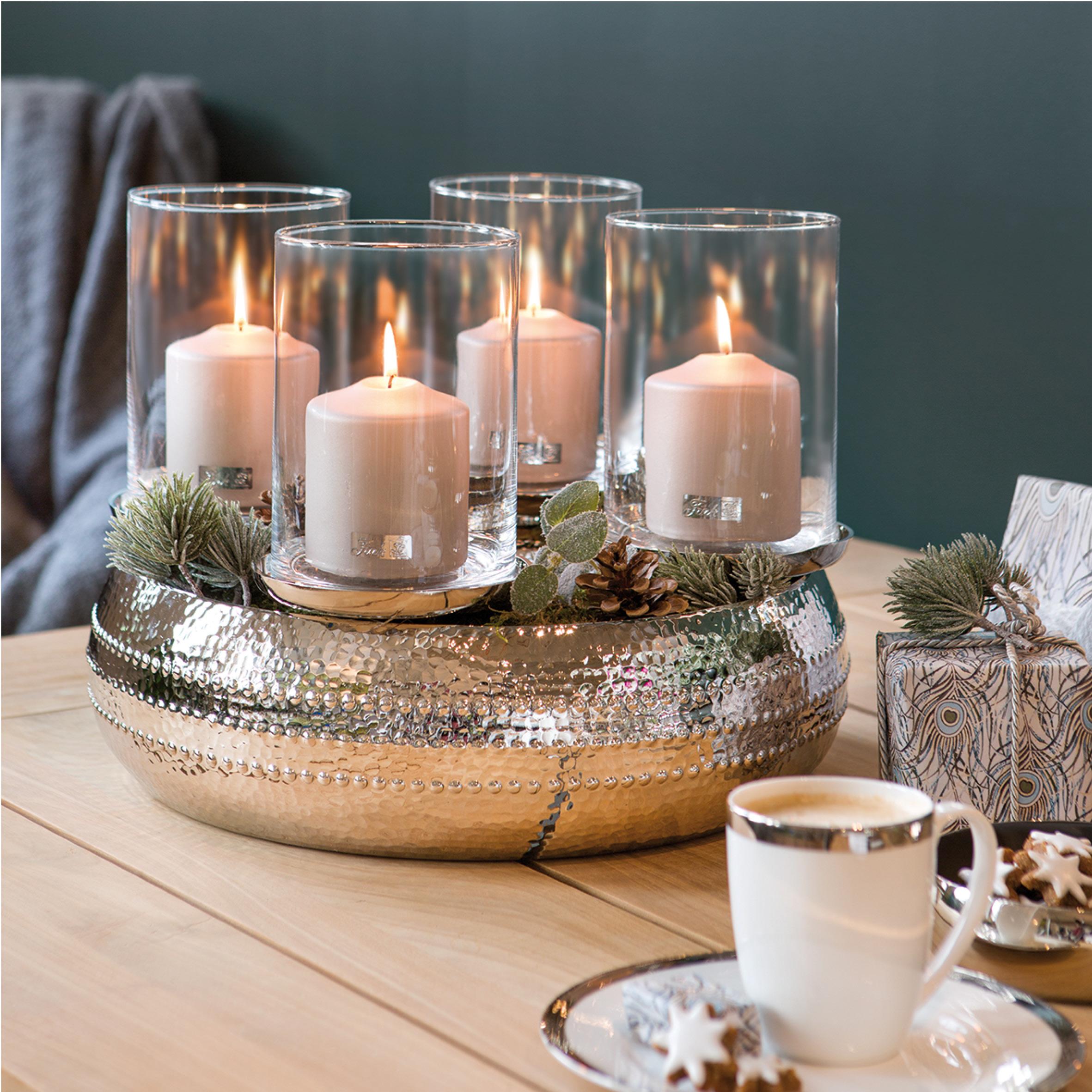 fink living bardino adventskranz d 40cm mit gl ser kerzenleuchter. Black Bedroom Furniture Sets. Home Design Ideas