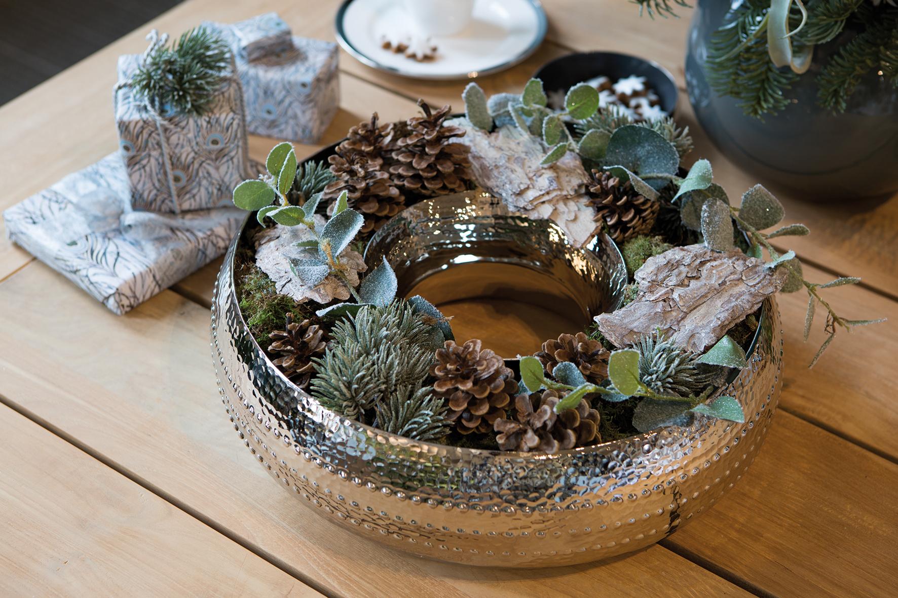 fink living bardino adventskranz d 40cm mit gl ser weihnachten. Black Bedroom Furniture Sets. Home Design Ideas